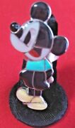 Zuni Size 6 Mickey Mouse Ring Sterling Silver Collectible Native American Usa
