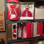Holiday Barbie Doll Collection Set - 1988 Thru 2015 - Exceptional Buy