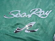 Sea Ray Emblem Script 12-3/4 And Sr 6-1/4 For Either Boat Side Brand New Chrome
