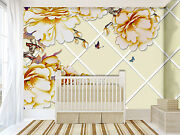 3d Check Flowers 4342 Wall Paper Wall Print Decal Wall Deco Indoor Wall Murals