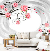 3d Whirl Flower 4667 Wall Paper Wall Print Decal Wall Deco Indoor Wall Murals