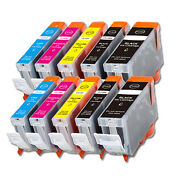10 New Replacement Ink Set For Canon Pixma Pgi-5bk Cli-8 Mp800 Mp810 Mp830 Mx850