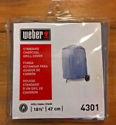 Weber Standard Charcoal Round 18 1/2 Inch Vinyl Grill Cover Model 4301 47cm