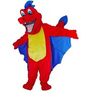 Red Dragon Professional Quality Mascot Costume Adult Size
