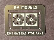 Etched Radiator Fan For The Kato And Walthers Nw-2 Ho Scale By Kv Models Kv-111h