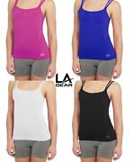20 Active Camis By La Gear Womens Seamless Camisole Built-in Shelf Bra Assorted