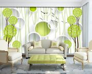 3d Tree Ring Green 354 Wall Paper Wall Print Decal Wall Deco Indoor Wall Murals