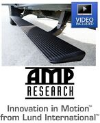 Amp Research Plug-n-play Power Steps W/ Light Kit For 14-19 Chevy And Gmc Truck