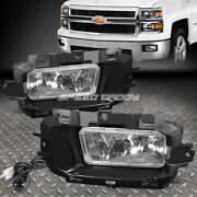 For 14-15 Chevy Silverado 1500 Clear Lens Bumper Driving Fog Light Lamp W/switch