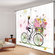 3d Girl Cycling Blockout Photo Curtain Printing Curtains Drapes Fabric Window Ca