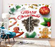3d Christmas 99 Blockout Photo Curtain Printing Curtains Drapes Fabric Window Ca