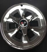 1965 Corvette Wheel Covers/hubcaps W/spinners -set Of 4- New W/ Minor Blemishes