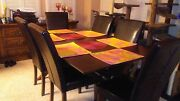 Dining Room Table And Six Parson Chairs