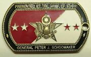 General Schoomaker Chief Of Staff Army Challenge Coin