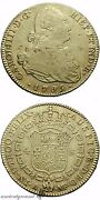 Spain Colonial Gold Coin 4 Escudos Charles Iiii 1795 Ad Madrid