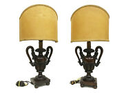 Antique 19th Century Altar Finials Turned Into Table Lamps