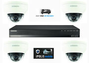 Samsung 4 Channel Kit Full Hd 1080p 4mp 4 Camera Cctv Home Security System 1tb