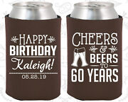 Personalized 60th Birthday Party Favor Koozies 20006 Cheers To 60 Years, Gifts