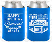 Personalized 60th Birthday Party Gifts Koozie 20057 Classic Birthday