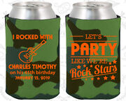 Personalized 45th Birthday Party Favor Koozies 20176 Rockstar Birthday, Gifts