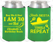 Personalized 30th Birthday Party Gifts Koozie 20177 Mexican Birthday, Fiesta