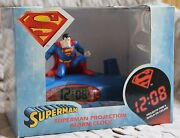 Superman Projection Alarm Clock - New Hard To Find In This Condition