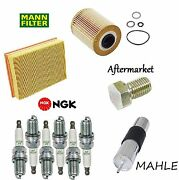 Tune-up Kit Oil Air Fuel Filters Drain Plug Spark Plugs For Bmw Z3 3.2l 01-02