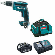 Makita 18v Dfs452 Drywall Screwdriver Bl1840 Battery Dc18rc Charger And Bag