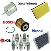 Tune Up Kit Cabin Air Fuel Oil Filters Plugs For Volvo S60 2.4 2.5t T5 2004
