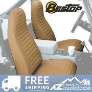 Bestop Seat Covers Pair High Back Bucket For And03997-and03902 Jeep Wrangler Tj Spice