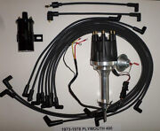 Small Cap Plymouth 73-78 400 Black Hei Distributor + 45k Coil + Spark Plug Wires