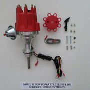 Small Cap Small Block Mopar 318, 340 And 360 Pro Series Red Hei Distributor