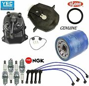 Tune Up Kit Cap Rotor Oil Filters Wire Plugs For Honda Odyssey L4 2.3l 1998