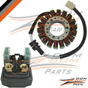 1999-2002 Yamaha R6 Yzfr6 Yzf-r6 Magneto Stator Coil And Starter Relay Motorcycle