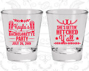 Bachelorette Party Shot Glasses Favors 60047 Western Shes Getting Hitched