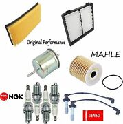 Tune Up Kit Cabin Air Oil Fuel Filters Plugs Wire For Volvo S40 L4 2004