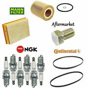 Tune-up Kit Oil Air Fuel Filters Drain Plug Spark Plugs For Bmw 330xi E46 03-05