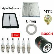 Tune Up Kit Filters Oil Cabin Air Plugs Drain Plug For Acura Tl V6 3.7l 09-10