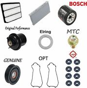 Tune Up Kit Filters Plug O-rings Covers Idler Pulley For Acura Rl 3.5l 2004