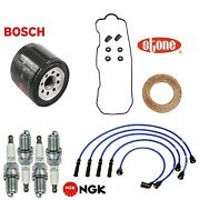 Tune Up Kit Oil Filter Wire Plugs Gaskets For Isuzu Amigo L4 2.3l Carb 90-93