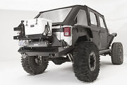 Fab Fours Rear Base Bumper, Off-the-door Tire Carrier And Air Compress Yeti Mount