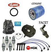 Tune-up Kit Cap Rotor Wires Spark Plug Pcv For Honda Accord Ex L4 2.2l 94-97
