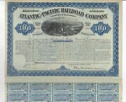 1880 Atlantic And Pacific Rr Bond With Bonds - Western Division