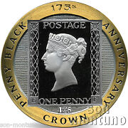 1/5 Oz Gold Proof Coin - 2015 Isle Of Man - 175th Anniversary Penny Black Stamp