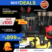 Bosch Hammer Drill Preowned Free Grinder Bits Chisels Extras Fast Ship