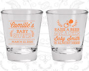 Baby Shower Shot Glasses Glass Favors 90008 Floral Beer Baby Is Almost Here