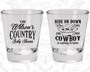 Baby Shower Shot Glasses Glass Favors 90105 Cowboy Itandrsquos A Boy Country