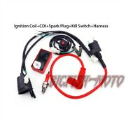 Pit Dirt Bike Racing Ignition Coil Cdi Spark Plug Wiring Loom Harness Switch
