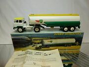 Dinky Toys 887 Unic Tractor + Tanker Air Bp - White Green 143 - Good In Box
