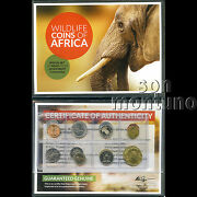 Wildlife Coins Of Africa - Uncirculated Set From 15 Different Countries With Coa